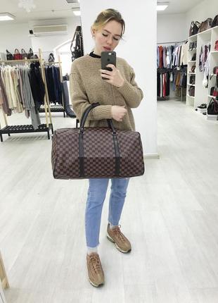 Акция! дорожная сумка эко кожа сумка для ручной клади коричневая / самовывоз киев