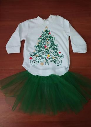 Новогодний/рождественский костюмчик ёлочки