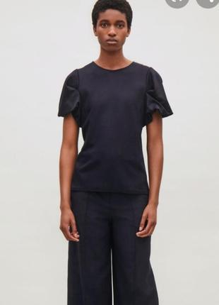 Блуза cos с драппированными рукавами