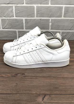 Кеды кроссовки adidas superstar foundation original 43 белые мужские кожаные