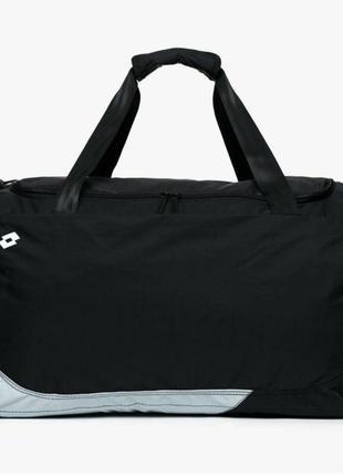 Черная большая спортивная дорожная сумка lotto (оригинал)