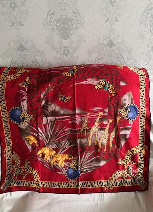 Vip! роскошный шелковый платок must de cartier, paris