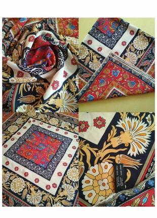 Sale💖🌲💞 неперевершенно красива шовкова хусточка, платок schoop италия в стиле hermes