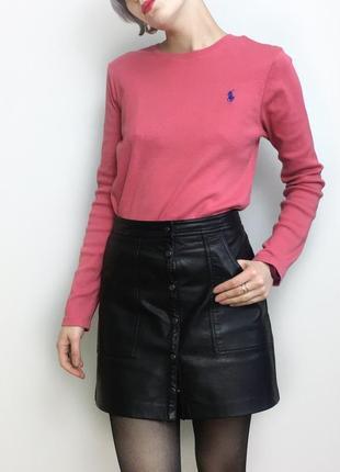 Розовая оригинальная кофта ralph lauren