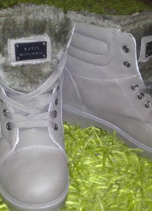 Зимние ботинки в стиле милитари2