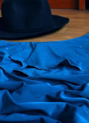 Праздничное бирюзовое платье2