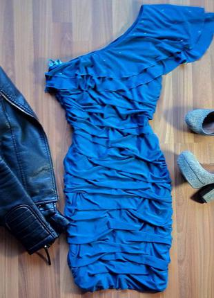 Праздничное бирюзовое платье3