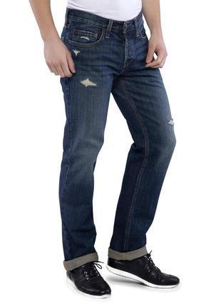 Джинсы hollister men black classic straight jeans