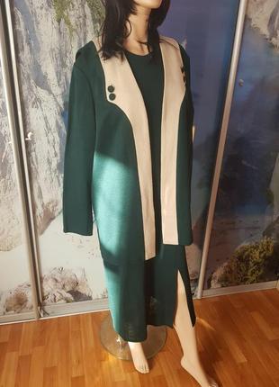 Шикарная новая двойка платье + жилетка. 54-56 размер