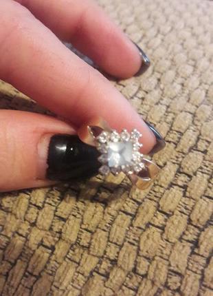 Кольцо с золотой напайкой перстень