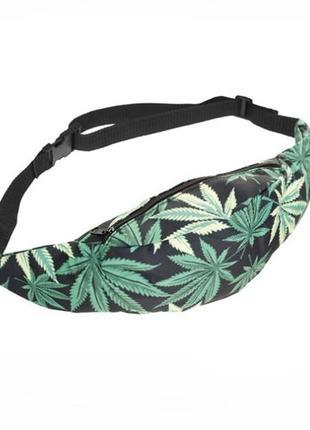 Новая модная бананка, сумка на пояс, кошелек, поясная сумка конопля листья конопли