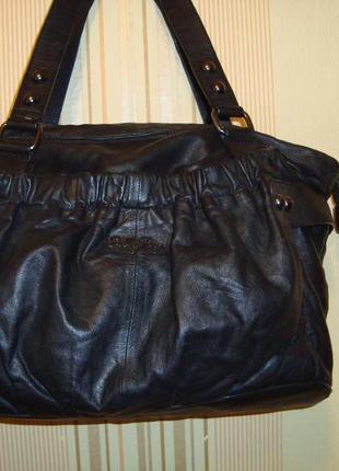 Большая кожаная сумка billy bag
