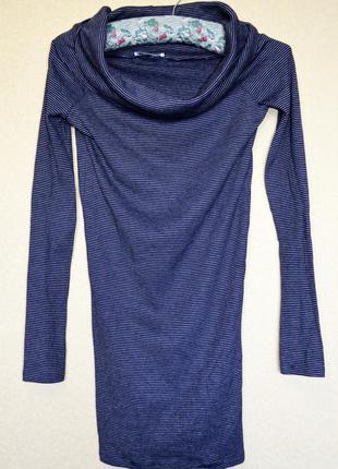 Очень классное катоновое стрейчевое трикотажное платье с горловиной-трансформером, фирмы zara