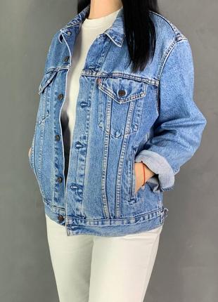 Куртка джинсовая винтажная джинсовка оверсайз levis.