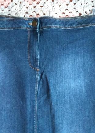 Джинсовая юбка миди. большой размер m&s2 фото