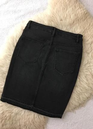 Джинсовая юбка миди h&m2 фото