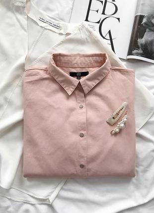 Пудровая оверсайз рубашка missguided
