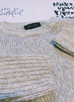 Стильный серебристый свитер, распродажа! джемпер кофта свитшот оверсайз