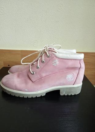 Брендовые, стильные, демисезонные ботинки на шнуровке.  бренд timberland.