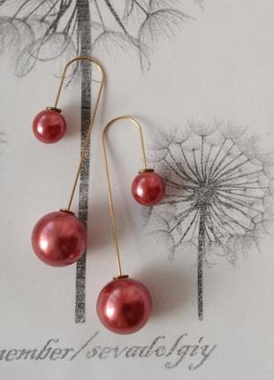 Распродажа! длинные серьги протяжки сережки гвоздики шар шарик бижутерия