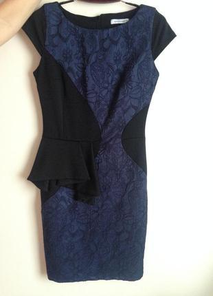 Черно-синие платье