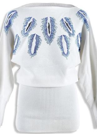 Платье туника вязаное! в наличии цвет пудра!