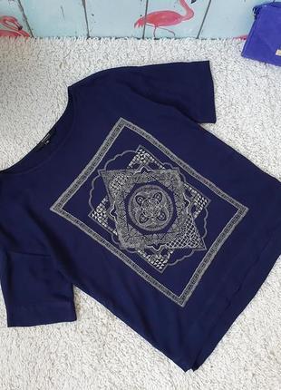 Стильная блуза из вискозы с мандалой