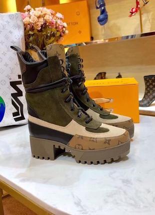 ❤️женские ботинки louis vuitton❤️натуральная кожа/замша