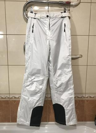 Горнолыжные штаны белые костюм лыжный штаны лыжные белые