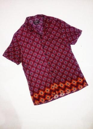 Xl блуза,рубашка,короткий рукав ,вискоза primark