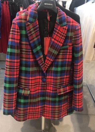 Модный пиджак в клетку, италия