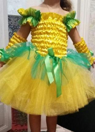 Платье цветочка кульбабка