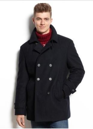 Tommy hilfiger шикарное мужское пальто, шерстяное пальто, пальто теплое, шерсть