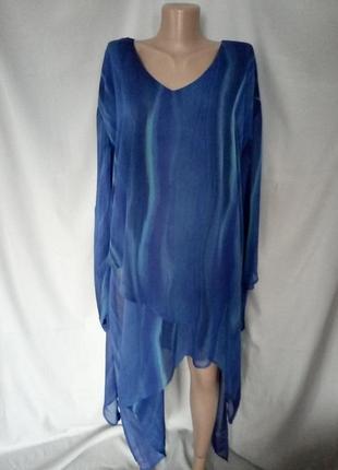 Стильное двухслойное платье, туника, блуза  №7bp