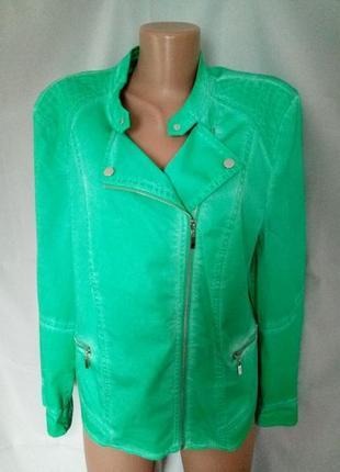 Стильная стрейчевая ветровка, куртка, косуха, большой размер  №1np