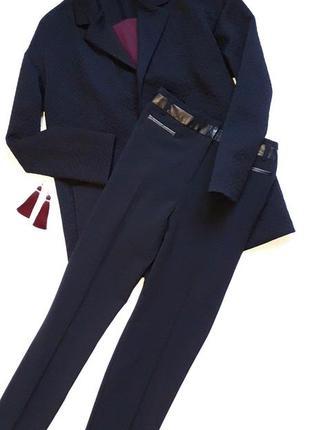 Демисезонный черный  стильный жакет пиджак оверсайз uk 14