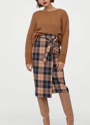 Бомбическая юбка на завышенной талии