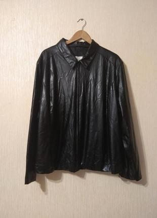 Крутая кожаная куртка ветровка кожзам очень большого размера essence 6xl-7xl