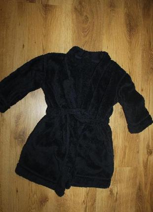 Халат - полотенце банный махровый на 3-4 года