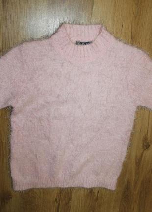 Свитер футболка травка розовый xs_s