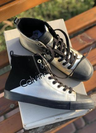 Высокие стильные ботинки - кеды ck оригинал новые