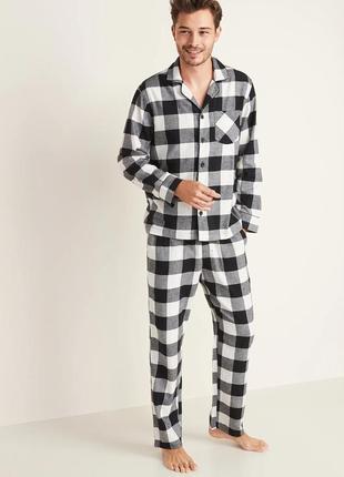 Мужская фланелевая пижама old navy  пижамы мужские олд неви