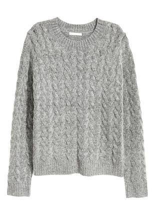 Уютный меланжевый свитер с мягкой пряжи