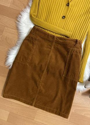 Актуальная вельветовая юбка мини №14max