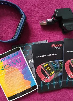 Мужской трекер, браслет для спорта фитнеса, nomi pulzz sb-22, цветной экран