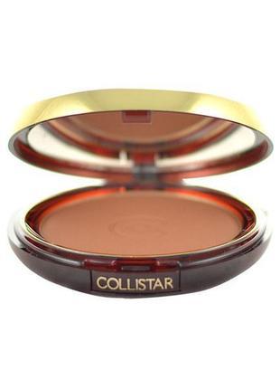Бронзовая пудра-румяна collistar silk effect bronzing powder 1.1 maldive mat тестер