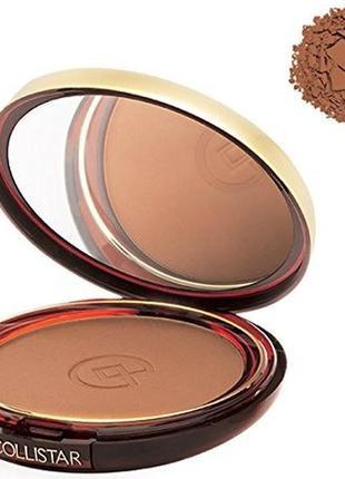 Бронзовая пудра-румяна collistar silk effect bronzing powder 6.6 antilles mat тестер