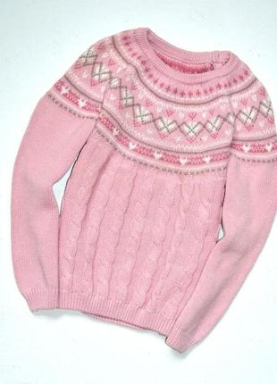Matalan. очень красивый и практичный свитер с узором. 3-4 года. рост 104 см