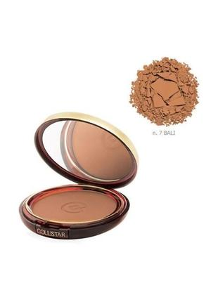 Бронзовая пудра-румяна collistar silk effect bronzing powder 7 bali тестер