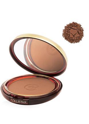 Бронзовая пудра-румяна collistar silk effect bronzing powder 12 coffee тестер